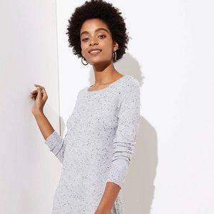 Petite Flecked Cutout Back Dress